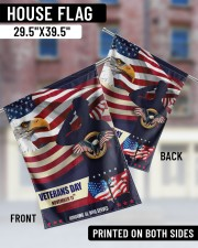 "Happy Veteran Day 29.5""x39.5"" House Flag aos-house-flag-29-5-x-39-5-ghosted-lifestyle-05"