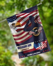 "Happy Veteran Day 29.5""x39.5"" House Flag aos-house-flag-29-5-x-39-5-ghosted-lifestyle-17"
