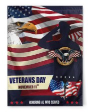 "Happy Veteran Day 29.5""x39.5"" House Flag front"