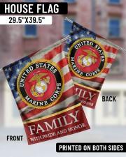 "Marine Family 29.5""x39.5"" House Flag aos-house-flag-29-5-x-39-5-ghosted-lifestyle-05"