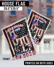 "Navy Veteran 29.5""x39.5"" House Flag aos-house-flag-29-5-x-39-5-ghosted-lifestyle-05"