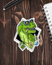 T-rex High Sticker  Sticker - Single (Vertical) aos-sticker-single-vertical-lifestyle-front-05