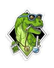 T-rex High Sticker  Sticker - Single (Vertical) front
