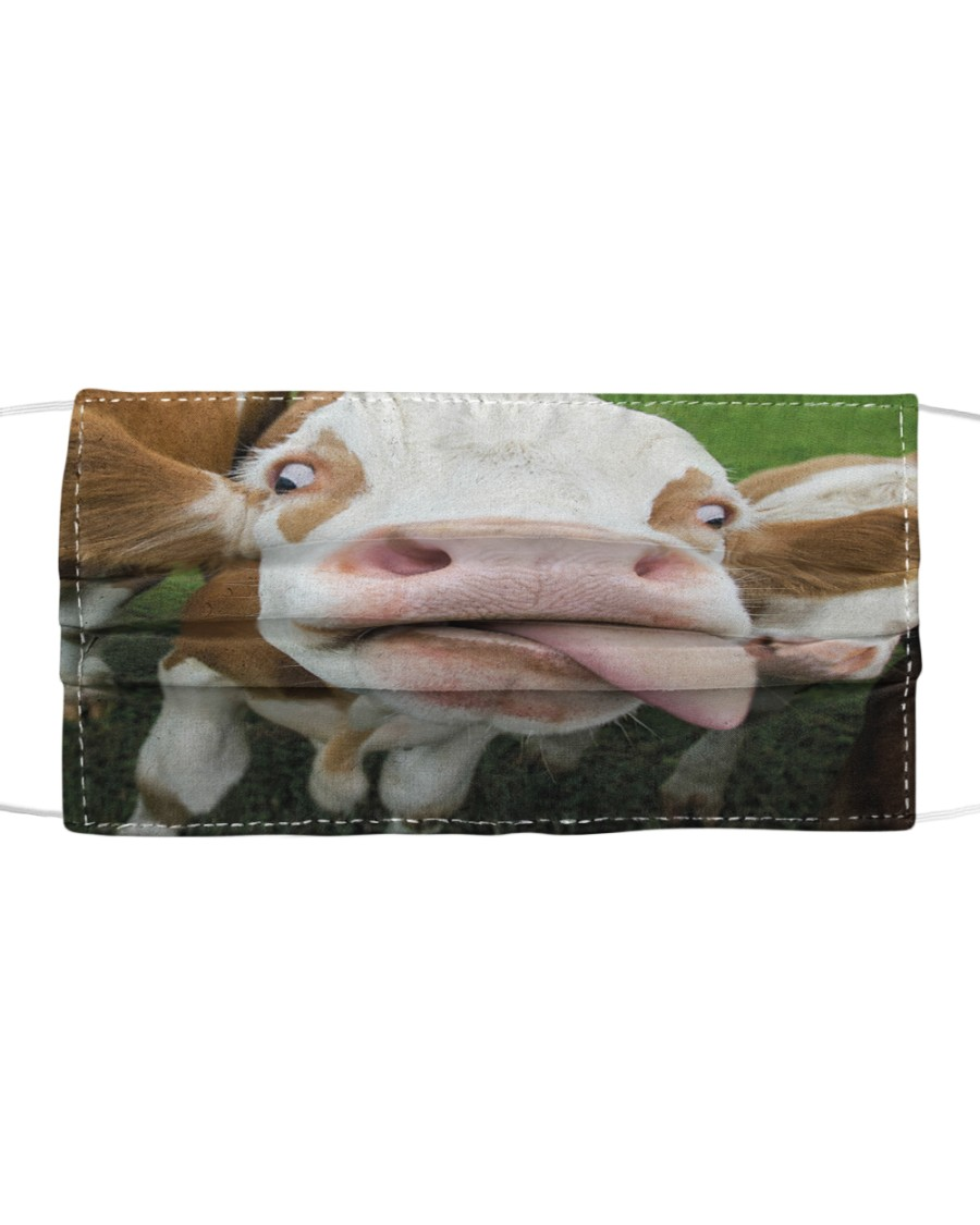 Funny cow  Cloth face mask