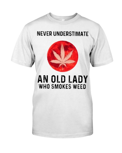 Old Lady Smokes Weed