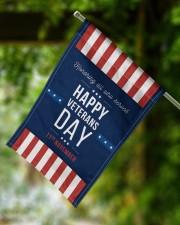 "Happy Veterans Day Flag 11.5""x17.5"" Garden Flag aos-garden-flag-11-5-x-17-5-lifestyle-front-15"