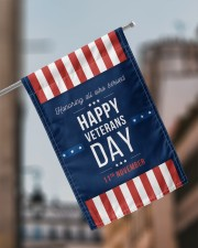 "Happy Veterans Day Flag 11.5""x17.5"" Garden Flag aos-garden-flag-11-5-x-17-5-lifestyle-front-17"