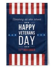 "Happy Veterans Day Flag 11.5""x17.5"" Garden Flag front"