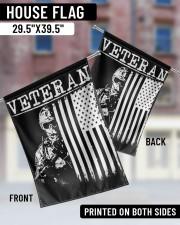 "Veteran Soilder Usa  29.5""x39.5"" House Flag aos-house-flag-29-5-x-39-5-ghosted-lifestyle-05"