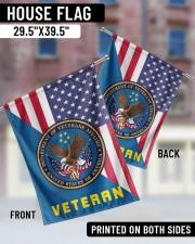"Veteran US Flag 29.5""x39.5"" House Flag aos-house-flag-29-5-x-39-5-ghosted-lifestyle-05"