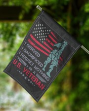 """Soldier Stand On American Flag 11.5""""x17.5"""" Garden Flag aos-garden-flag-11-5-x-17-5-lifestyle-front-15"""