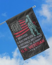 """Soldier Stand On American Flag 11.5""""x17.5"""" Garden Flag aos-garden-flag-11-5-x-17-5-lifestyle-front-16"""