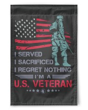 """Soldier Stand On American Flag 11.5""""x17.5"""" Garden Flag front"""