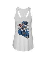 Skull scooter ride a motor Ladies Flowy Tank thumbnail