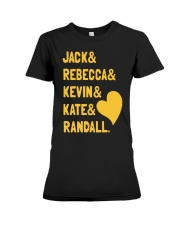 Jack Rebecca Kevin Kate Randall - Front Premium Fit Ladies Tee front