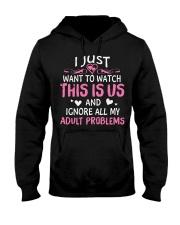 Adult Problem - Front Hooded Sweatshirt thumbnail