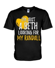 Beth Looking For Randall - Front V-Neck T-Shirt thumbnail