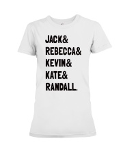 Jack and Rebecca - Front Premium Fit Ladies Tee front