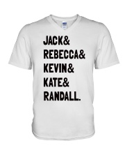 Jack and Rebecca - Front V-Neck T-Shirt thumbnail
