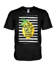 Sourest Lemon Life Has To Offer And Turn - Front V-Neck T-Shirt thumbnail
