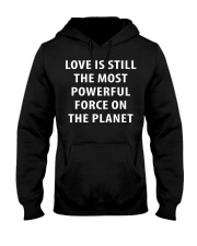 Love Is The Most Powerful - Front Hooded Sweatshirt thumbnail