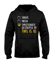 Emotionally Destroyed By This Is Us - Front Hooded Sweatshirt thumbnail