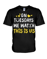 On Tuesday We Watch This Is Us - Front V-Neck T-Shirt thumbnail