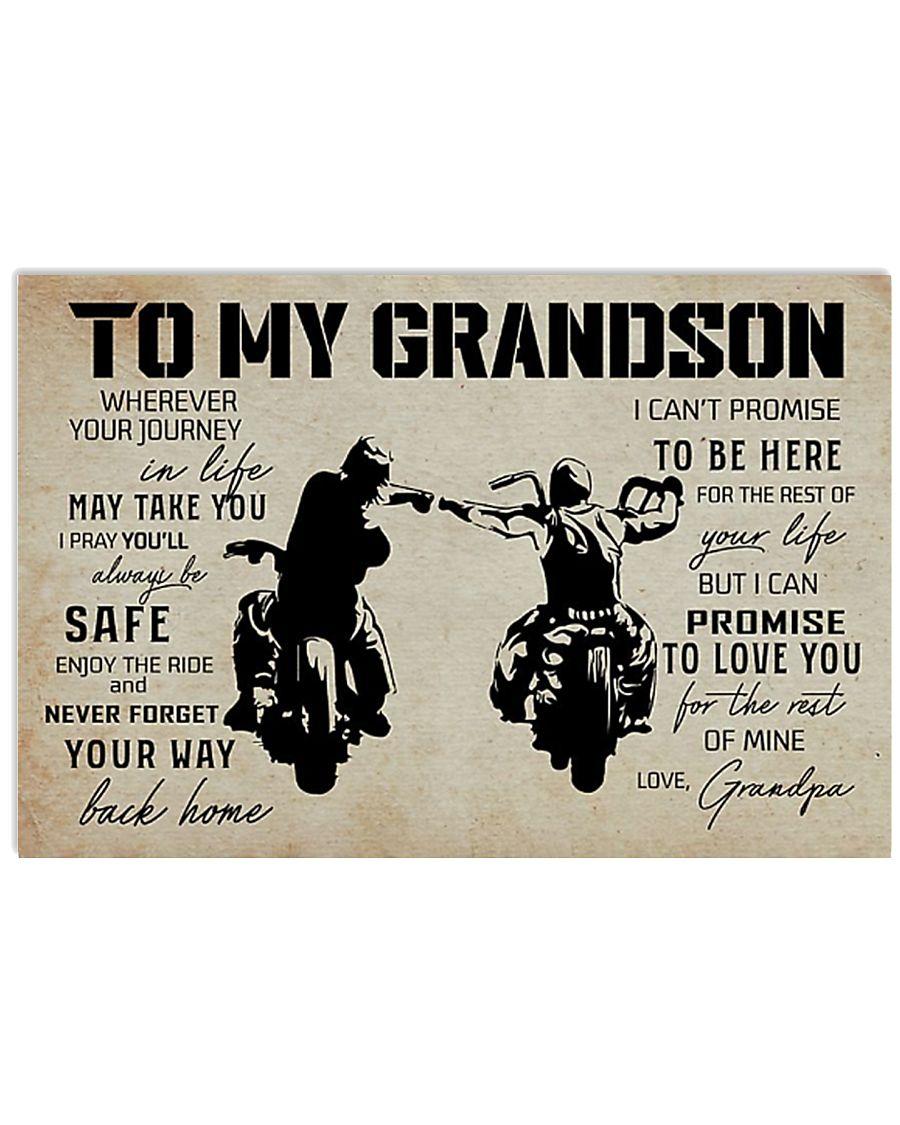 Poster To grandpaSon Biker 17x11 Poster