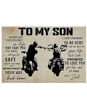 Poster To Son Biker 17x11 Poster front