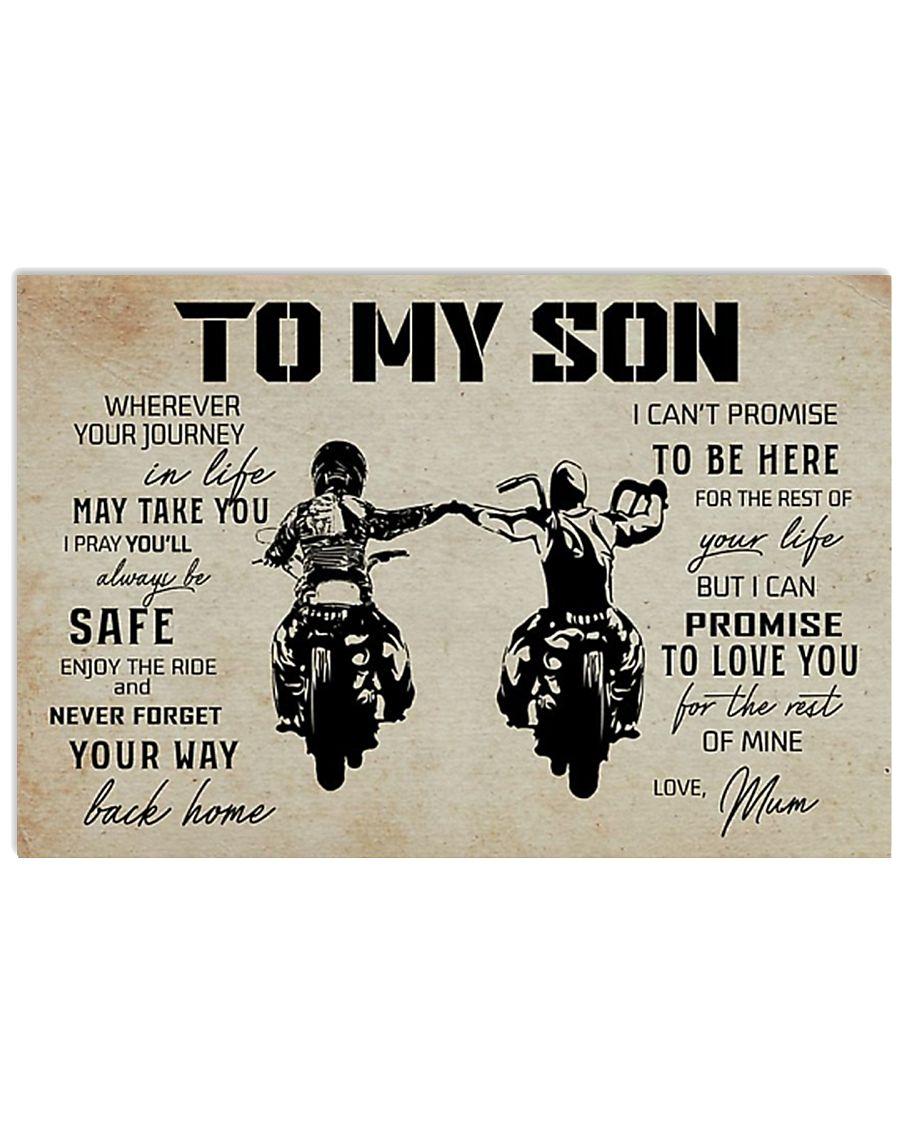 Poster To Son Biker Mum 17x11 Poster