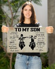 Poster To Son Biker Mum 17x11 Poster poster-landscape-17x11-lifestyle-19