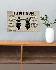 Poster To Son Biker Mum 17x11 Poster poster-landscape-17x11-lifestyle-24