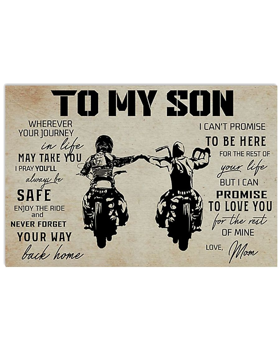 Poster To Son Biker Mom 17x11 Poster