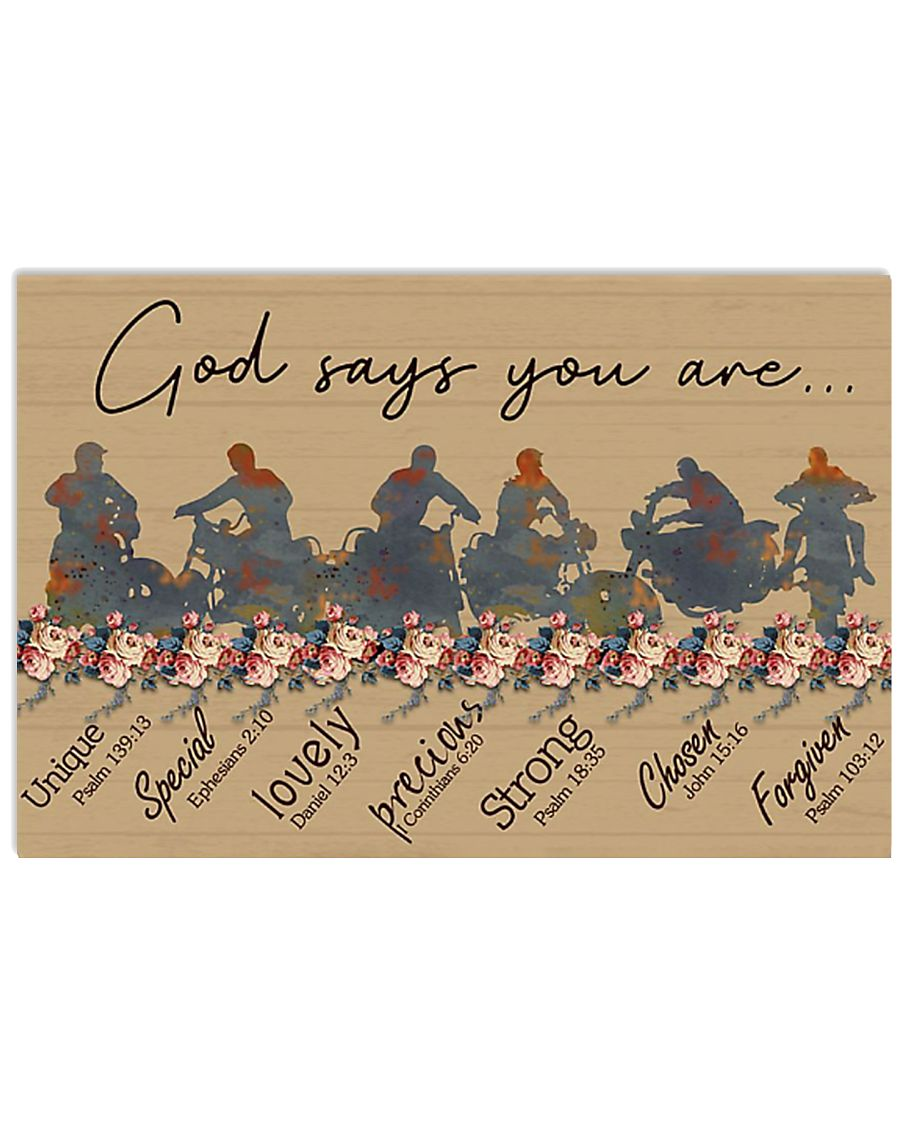 God say you are biker 17x11 Poster