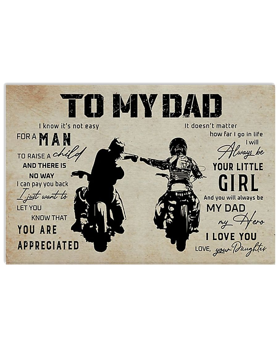 Poster To My Dad Daughter 17x11 Poster