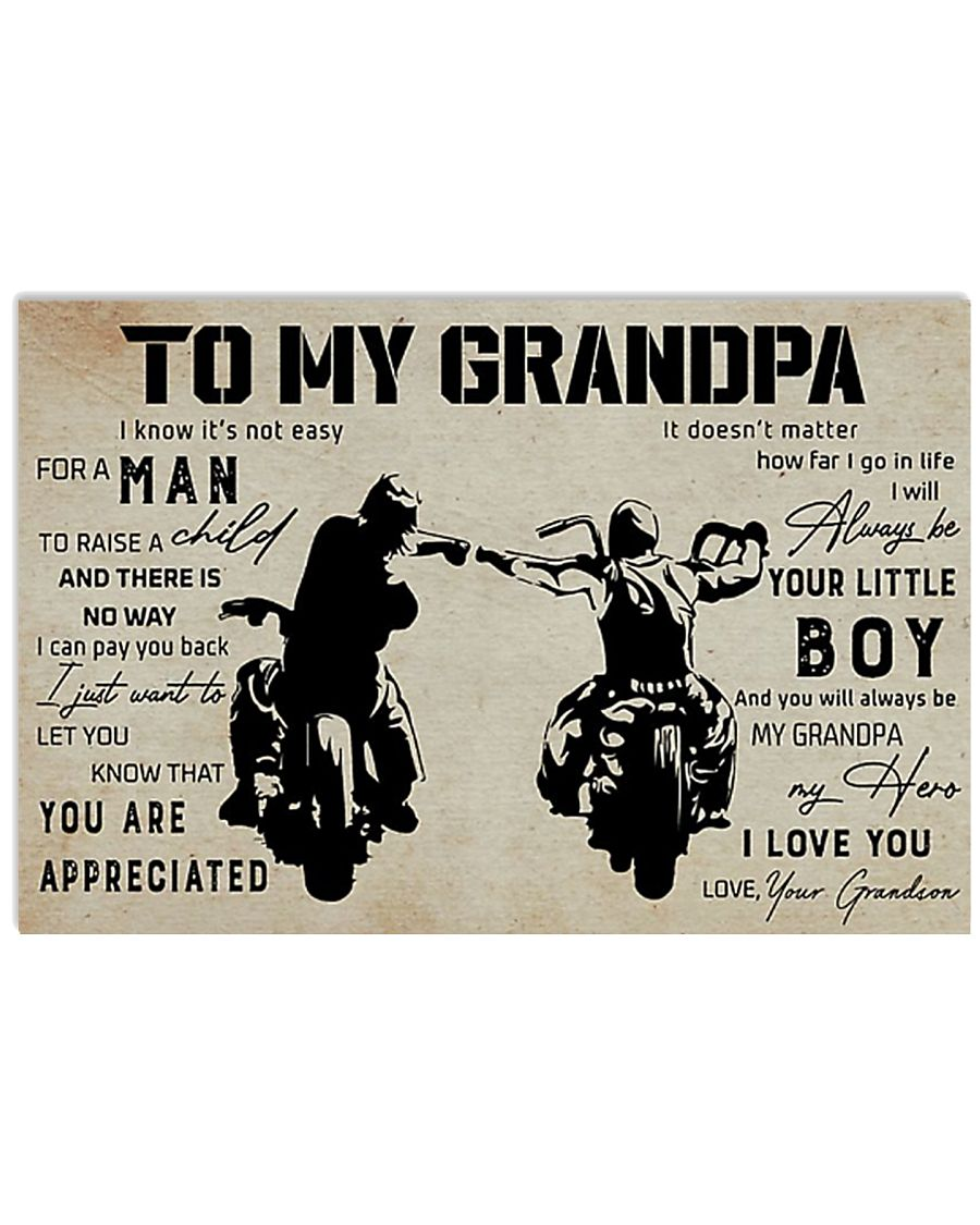 Poster To My Grandpa 17x11 Poster