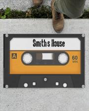 """Personalized Retro Cassette Doormat  Doormat 22.5"""" x 15""""  aos-doormat-22-5x15-lifestyle-front-01"""