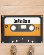 """Personalized Retro Cassette Doormat  Doormat 22.5"""" x 15""""  aos-doormat-22-5x15-lifestyle-front-02"""