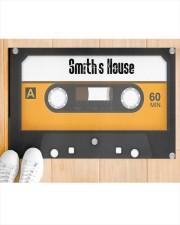"""Personalized Retro Cassette Doormat  Doormat 22.5"""" x 15""""  aos-doormat-22-5x15-lifestyle-front-03"""