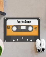 """Personalized Retro Cassette Doormat  Doormat 22.5"""" x 15""""  aos-doormat-22-5x15-lifestyle-front-07"""
