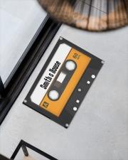 """Personalized Retro Cassette Doormat  Doormat 22.5"""" x 15""""  aos-doormat-22-5x15-lifestyle-front-08"""