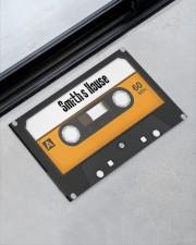 """Personalized Retro Cassette Doormat  Doormat 22.5"""" x 15""""  aos-doormat-22-5x15-lifestyle-front-09"""