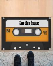 """Personalized Retro Cassette Doormat  Doormat 22.5"""" x 15""""  aos-doormat-22-5x15-lifestyle-front-10"""