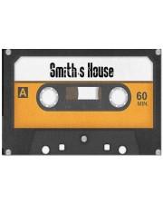 """Personalized Retro Cassette Doormat  Doormat 22.5"""" x 15""""  front"""