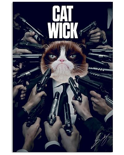 Catwick Cat John Wick Poster