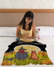 "I put a spell on you because you are mine blanket Small Fleece Blanket - 30"" x 40"" aos-coral-fleece-blanket-30x40-lifestyle-front-12"