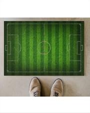 """Football Field For Football Lover Doormat Doormat 34"""" x 23"""" aos-doormat-34-x-23-lifestyle-front-04"""