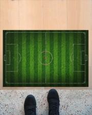 """Football Field For Football Lover Doormat Doormat 34"""" x 23"""" aos-doormat-34-x-23-lifestyle-front-10"""