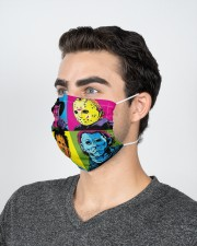 Halloween horror movie character face mask 2 Layer Face Mask - Single aos-face-mask-2-layers-lifestyle-front-21