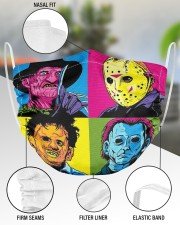 Halloween horror movie character face mask 2 Layer Face Mask - Single aos-face-mask-2-layers-lifestyle-front-51